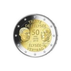 Moneda 2 euros conmemorativa. Alemania 2013 Elyseo (5 cecas)