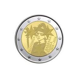 Moneda 2 euros conmemorativa. Eslovenia 2014