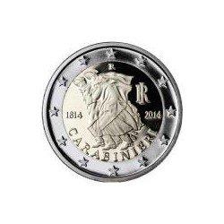 Moneda 2 euros conmemorativa. Italia 2014 Carabinieri