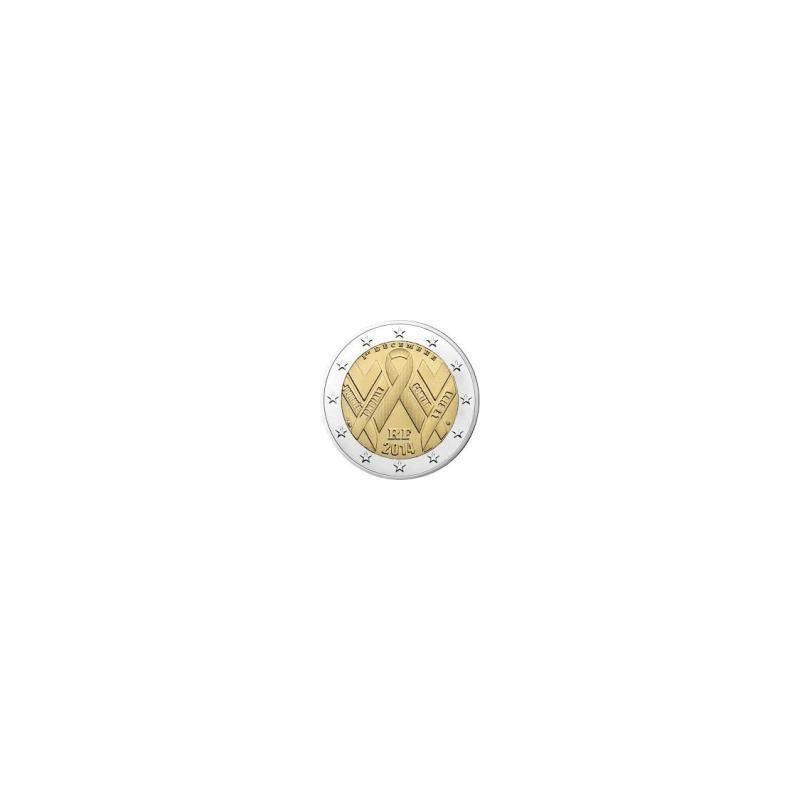 """Moneda 2 euros conmemorativa. Francia 2014 70 Aniv. Día """"D"""""""