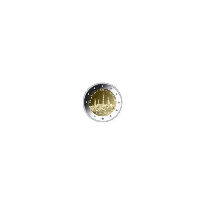Moneda 2 euros conmemorativa. Luxemburgo 2014 Duque Jean