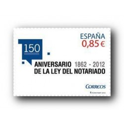 2012 Sellos de España (4724). 150º Aniv. de la Ley del Notariado.