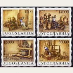 1989 Yugoslavia. Antiguos Oficios. Yvert.2255/58 **