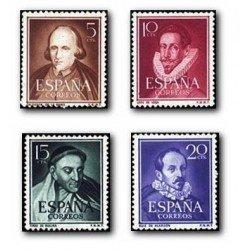 1950-53 España. Literatos. (Edif. 1071/74) **