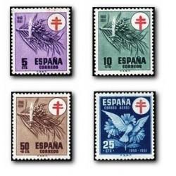 1950 Sellos de España (1084/87). Pro-Tuberculosis.