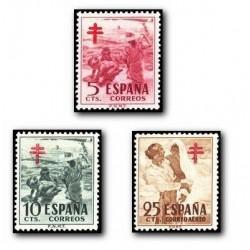 1951 Sellos de España (1103/05). Pro Tuberculosis.