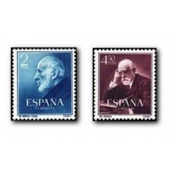 1952 Sellos de España (1119/20). Ramón y Cajal y Ferrán.