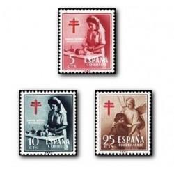 1953 Sellos de España (1121/23). Pro Tuberculosis.