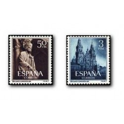 1954 Sellos de España (1130/31). Año Santo Compostelano.