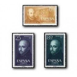 1955 Sellos de España (1166/68). San Ignacio de Loyola.