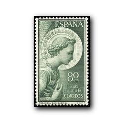 1956 Sellos de España (1195). Arcángel San Gabriel.
