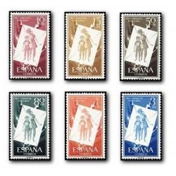 1956 Sellos de España (1200/05). Pro Infancia Húngara.