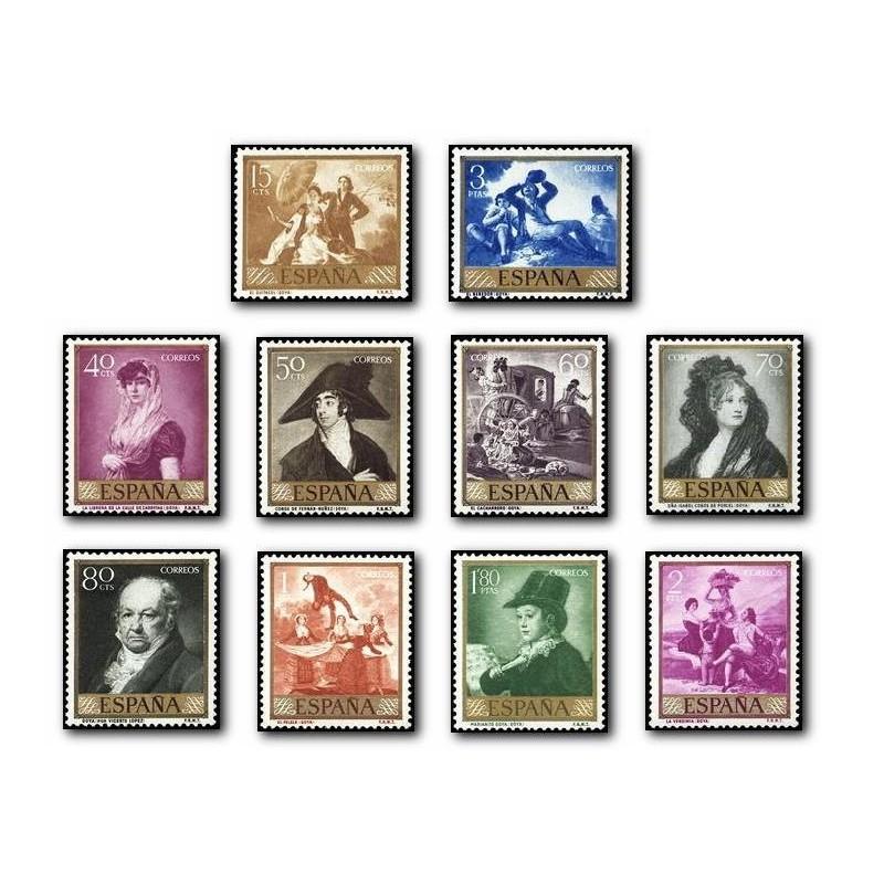 1958 España. Goya. (Edif. 1210/19)**