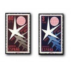 1958 Sellos de España (1220/21). Exposición de Bruselas.