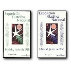 1958 Sellos de España (1222/23). Exposición Filatelia Nacional.
