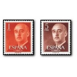 1960 Sellos de España (1290/91). General Franco.