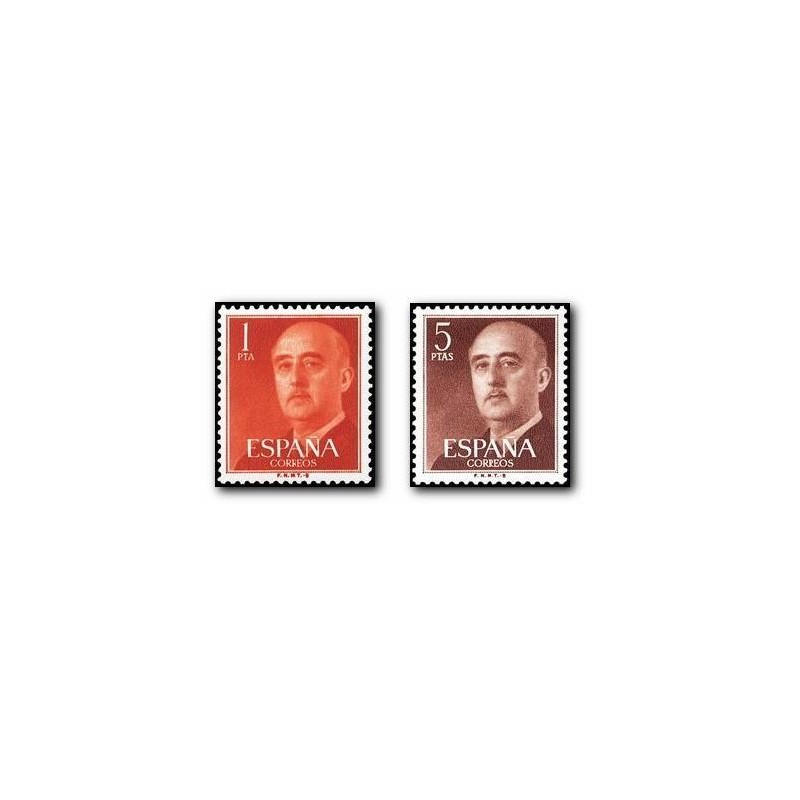1960 España. General Franco. (Edif. 1290/91)**