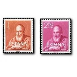 1960 Sellos de España (1292/93). Beato Juan de Ribera.