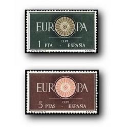 1960 Sellos de España (1294/95). Europa CEPT.