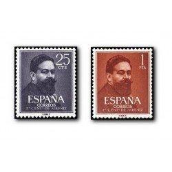 1960 España. Isaac Albeniz. (Edif.1320/21) **