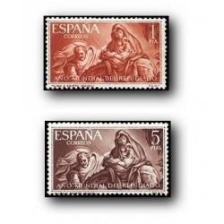 1961 Sellos de España (1326/27). Año Mundial del Refugiado.