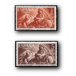 1961 España. Año Mundial del Refugiado. (Edif.1326/27) **