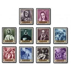 """1961 Sellos de España (1330/39). Domenico Theotocopoulos """"El Greco""""."""