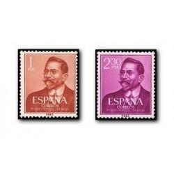 1961 Sellos de España (1351/52). Juan Vázquez de Mella.