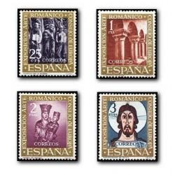 """1961 Sellos de España (1365/68). Exposición """"El Arte Románico""""."""