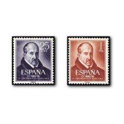 1961 Sellos de España (1369/70). Luis de Góngora y Argote.