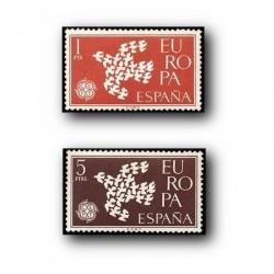 1961 Sellos de España (1371/72). Europa CEPT.
