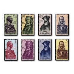1961 Sellos de España (1374/81). Forjadores de América.