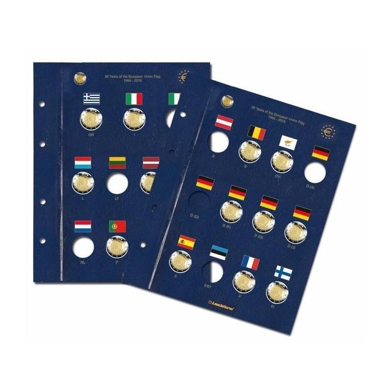 """Hojas VISTA para """"30 Aniv. de la Bandera Europea"""". (2 unid.)"""