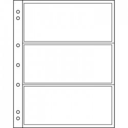 Hojas para billetes Leuchtturm NUMIS 3C transparentes (10 unds.)