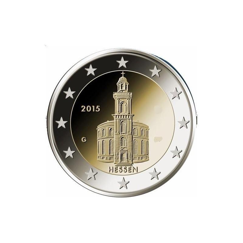 Moneda 2 euros conmemorativa. Alemania 2014 Hildesheim (5 cecas)