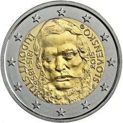 Moneda 2 euros conmemorativa. Eslovaquia 2015 Ľudovít Štúr