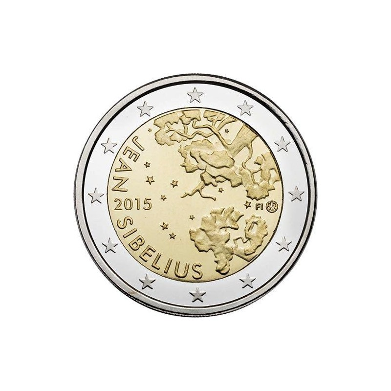Moneda 2 euros conmemorativa. Finlandia 2014 Tapiovaara