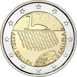 Moneda 2 euros conmemorativa. Finlandia 2015 Akseli Gallen-Kallela