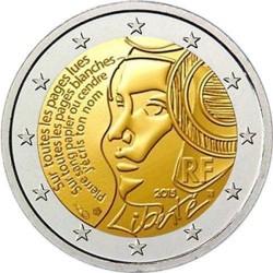 Moneda 2 euros conmemorativa Francia 2015 Fiesta de la Federación