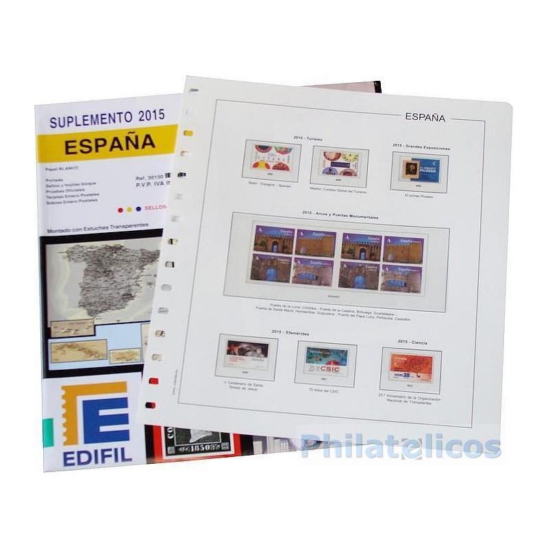 Suplemento Anual Edifil España 2015 Completo