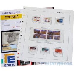Suplemento Edifil España 2015 sólo Sellos y Hojas Bloque