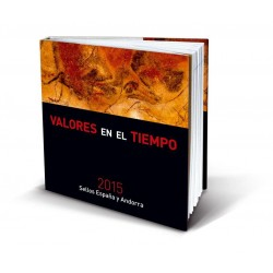 Álbum de sellos Correos España y Andorra 2015 sin sellos