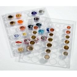 Hojas GRANDE ENCAP para monedas en cápsulas de 22/23 mm, (2 unds.)