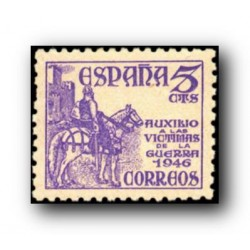 1949 Sellos de España (1062). Pro Víctimas de la Guerra.