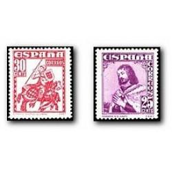 1948 Sellos de España. Personajes. (Edif. 1033/34) **