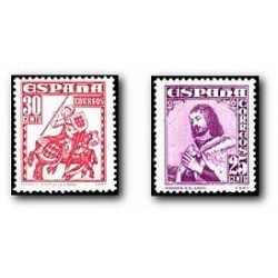 1948 Sellos de España (1033/34). Personajes.