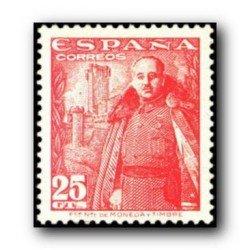 1948 Sellos de España (1024General Franco y Castillo de la Mota