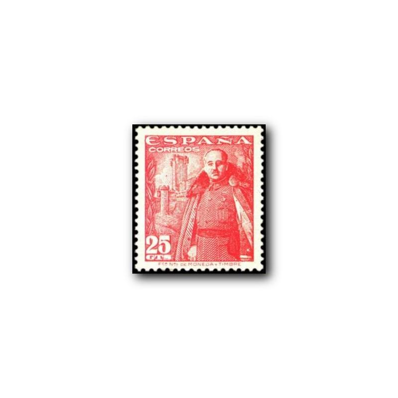 1948 Sellos de España (1024/32). General Franco y Castillo de la Mota