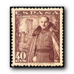 1948 Sellos de España (1026). General Franco y Castillo de la Mota