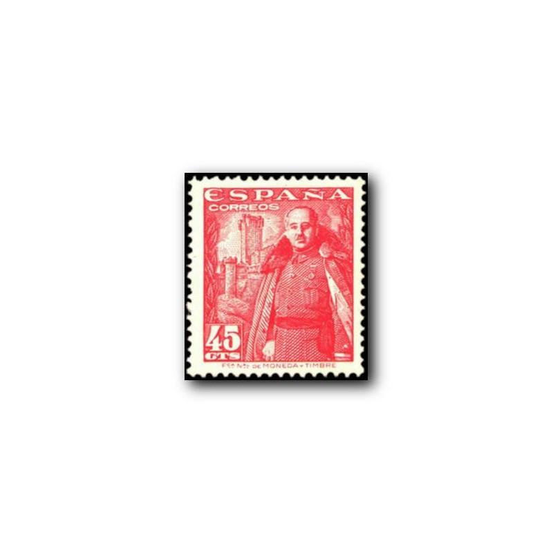 1948 Sellos de España (1027). General Franco y Castillo de la Mota